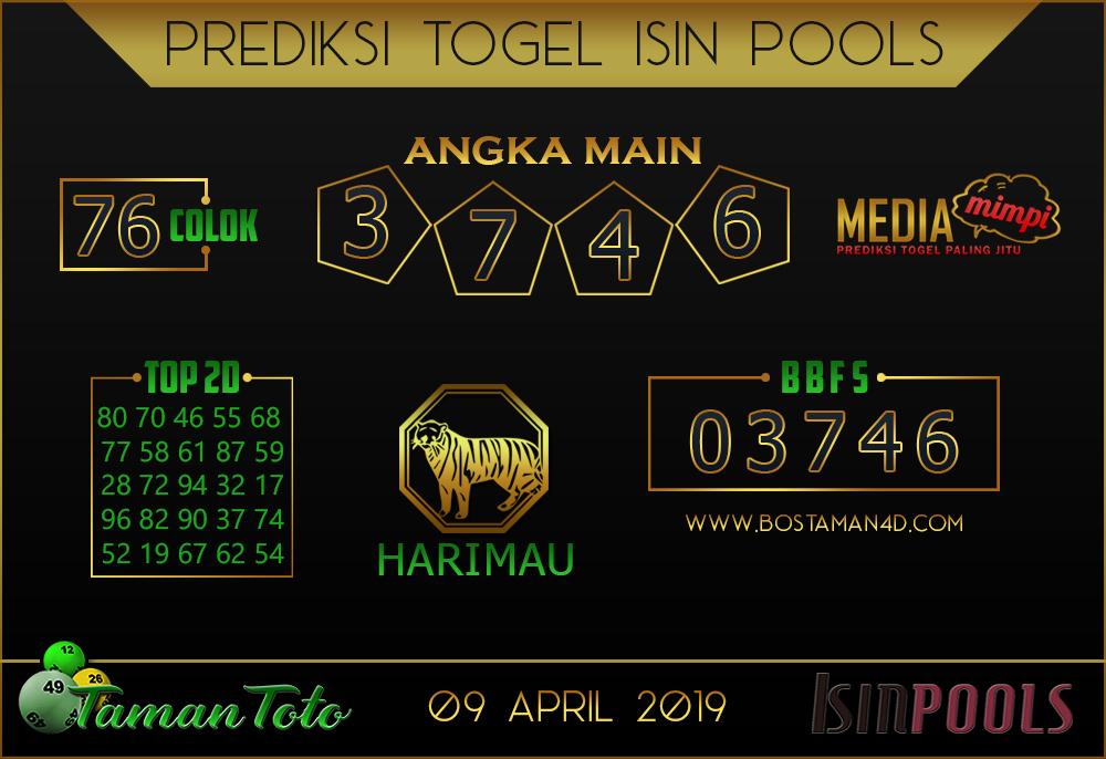 Prediksi Togel ISIN TAMAN TOTO 09 APRIL 2019