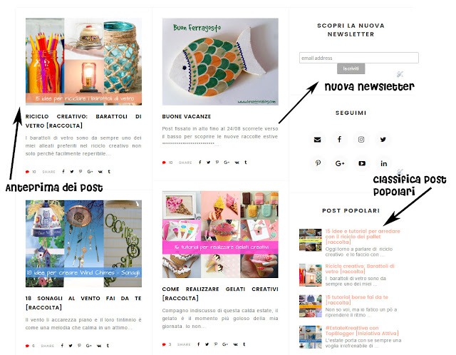 nuova newsletter e anteprima post