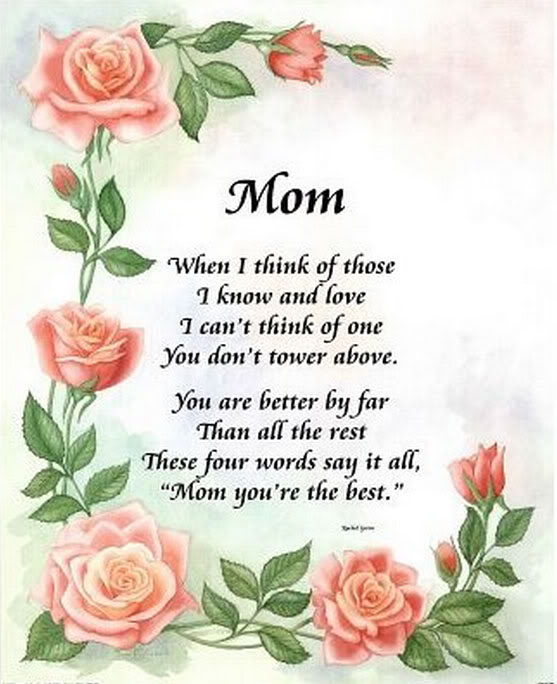 Mothers day poems messages wishes quotes wish your for Mothers day poems that make you cry