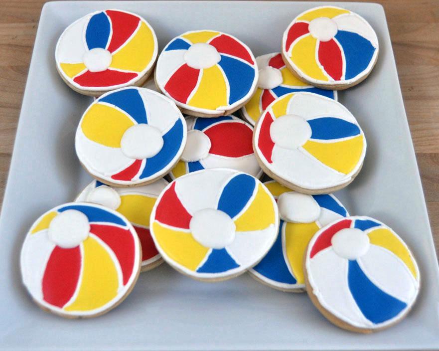 Beki Cook's Cake Blog: Beach Ball Cookies