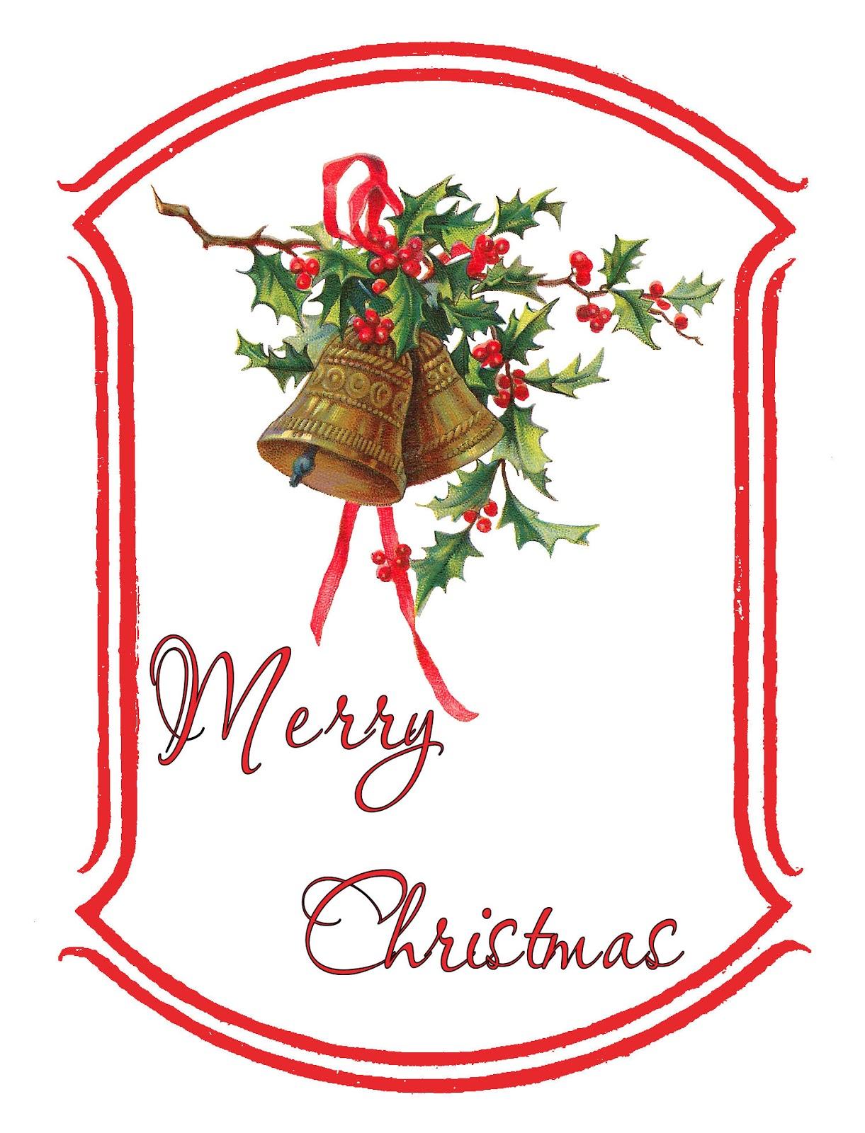 The Graphics Monarch: Printable Christmas Holly Gift Tag ...