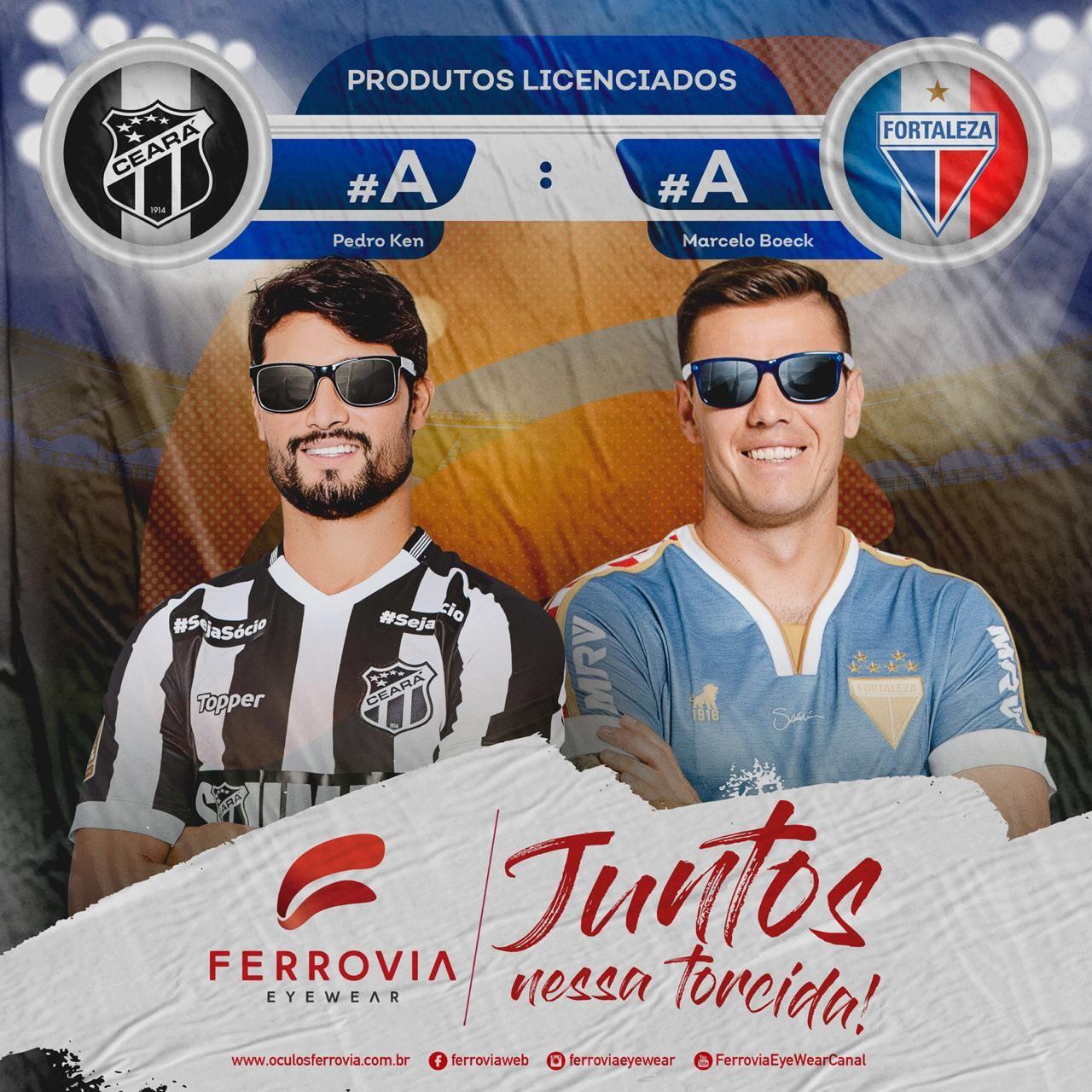 05785096a Ferrovia Eyewear une os times Fortaleza e Ceará em sua nova campanha