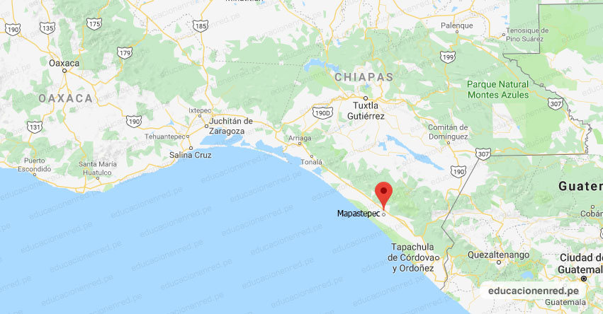 Temblor en México de Magnitud 4.2 (Hoy Domingo 24 Mayo 2020) Sismo - Epicentro - Mapastepec - Chiapas - CHIS. - SSN - www.ssn.unam.mx