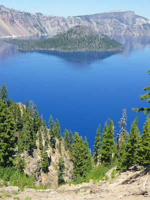 Crater Lake with Wizard Island and Llao Rock