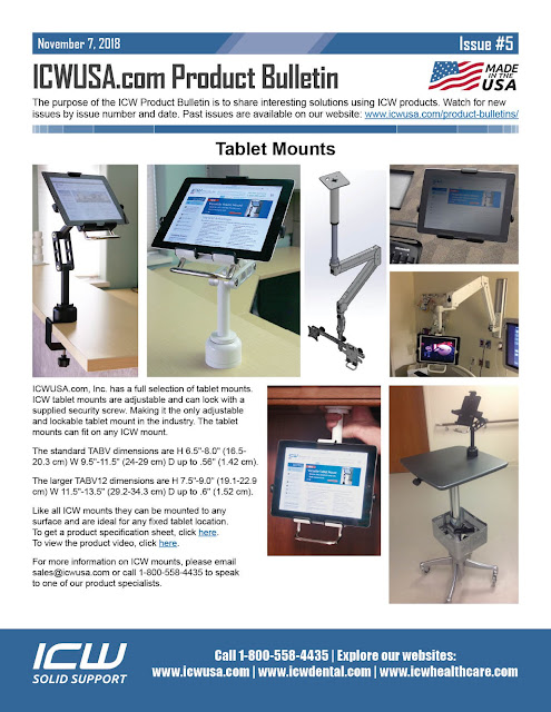 ICW's Products Bulletin Series Issue #5 - Tablet Mounts