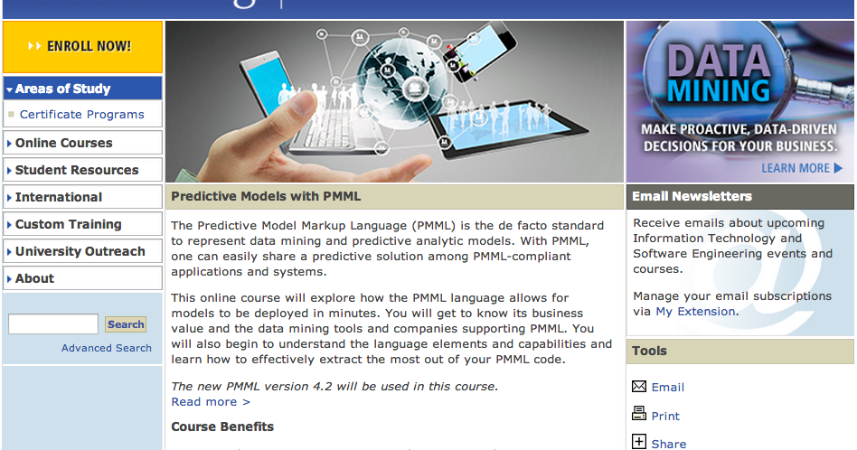 Predictive Analytics, Big Data, Hadoop, PMML: Online PMML
