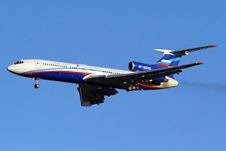 Jet Tu-154M Rusia