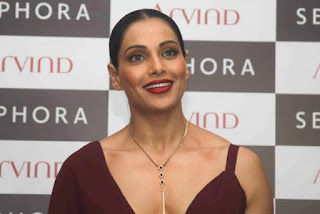 Bipasha Basu Spotted at Sephora Store Launch in a Deep Neck Brown Gown