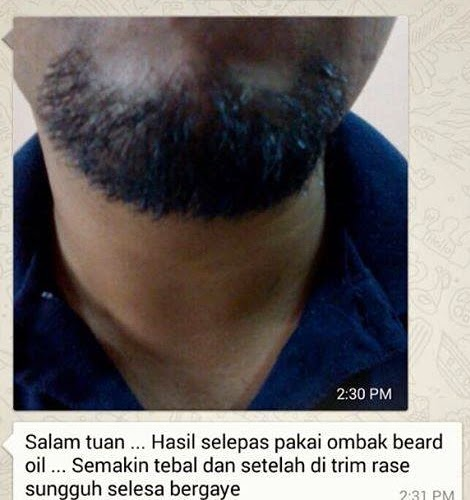 Testimoni Foto Setelah Menggunakan Minyak Ombak Beard Oil Merangsang Pertumbuhan Jenggot dan Kumis