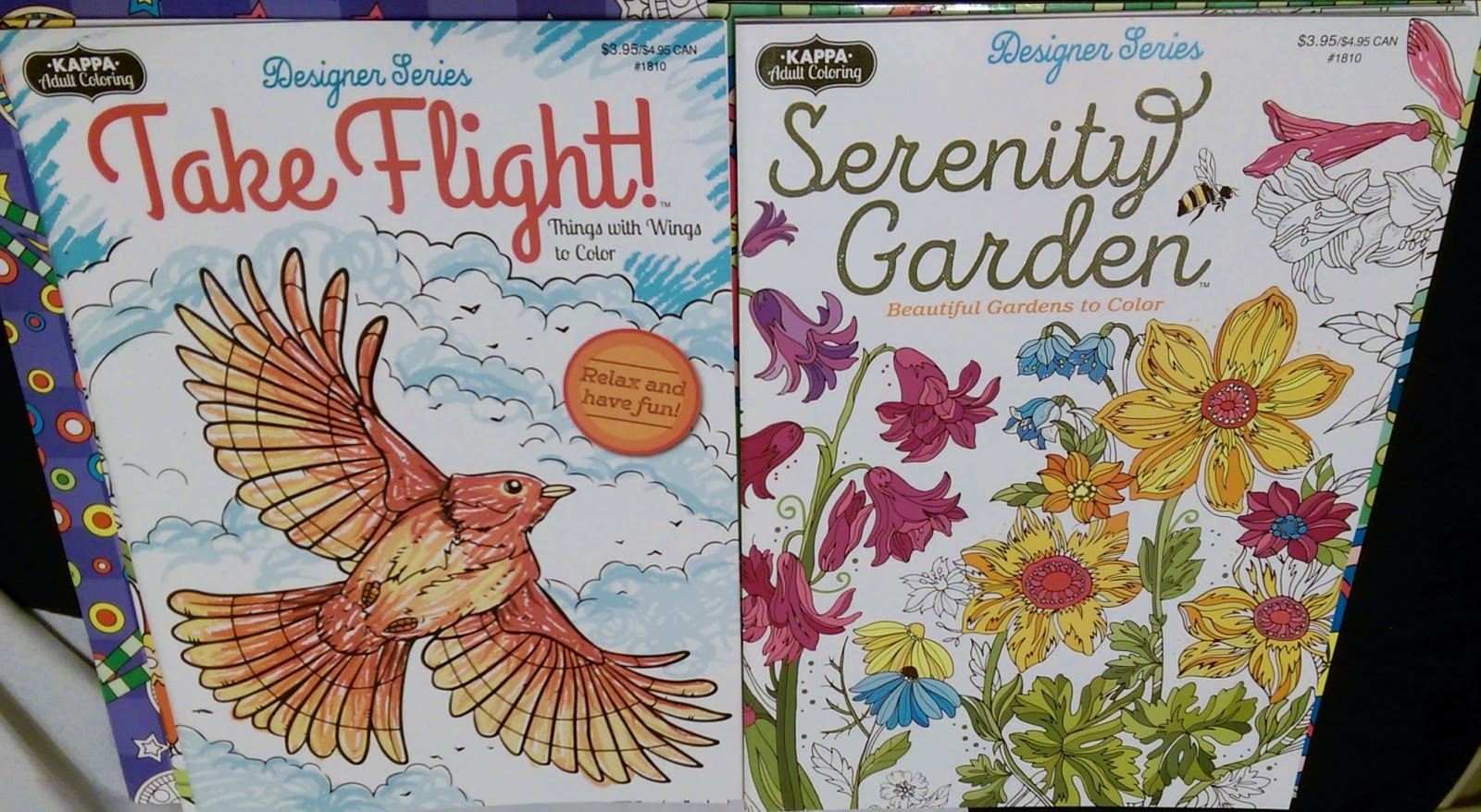 take flight and serenity garden coloring books for adults at dollar tree - Dollar Tree Coloring Books