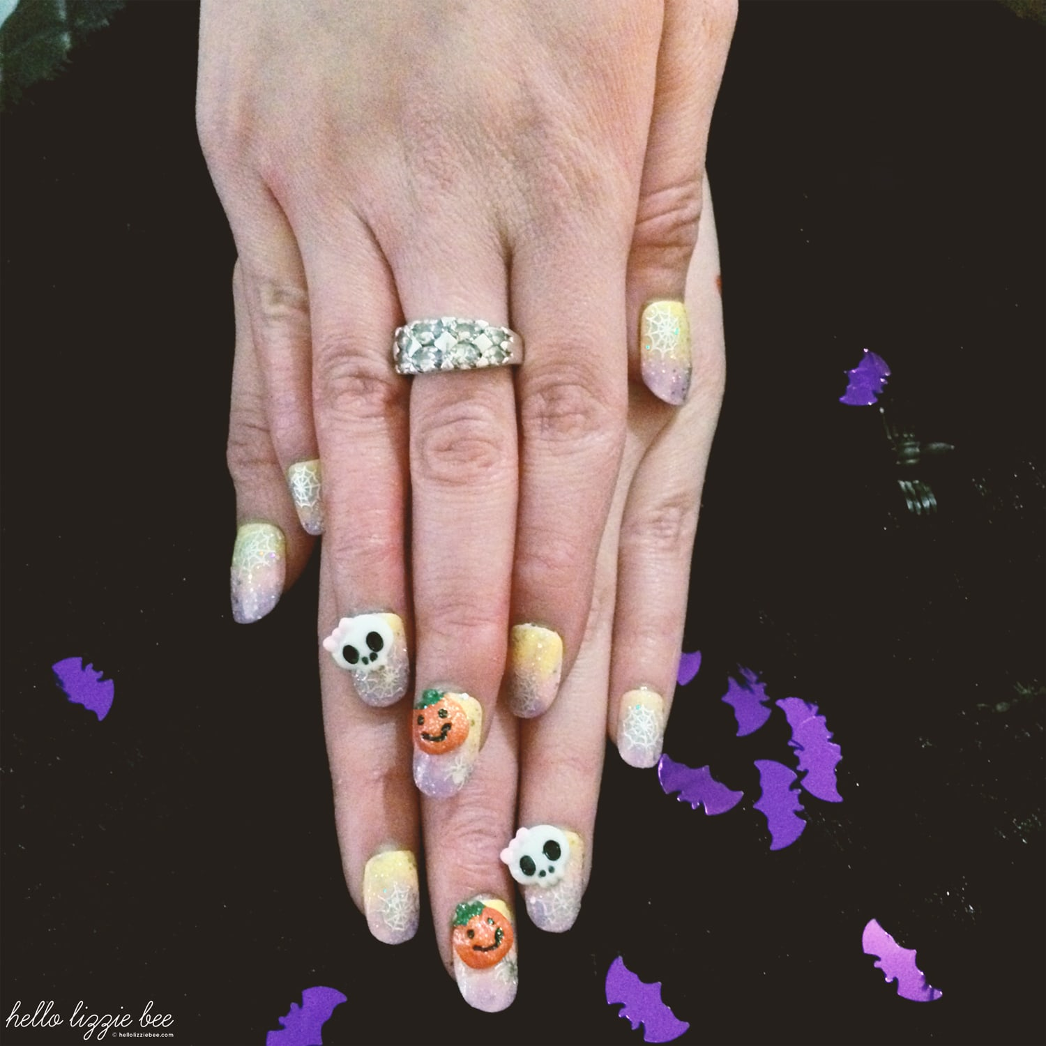 gyaru halloween nails, gyaru nail art