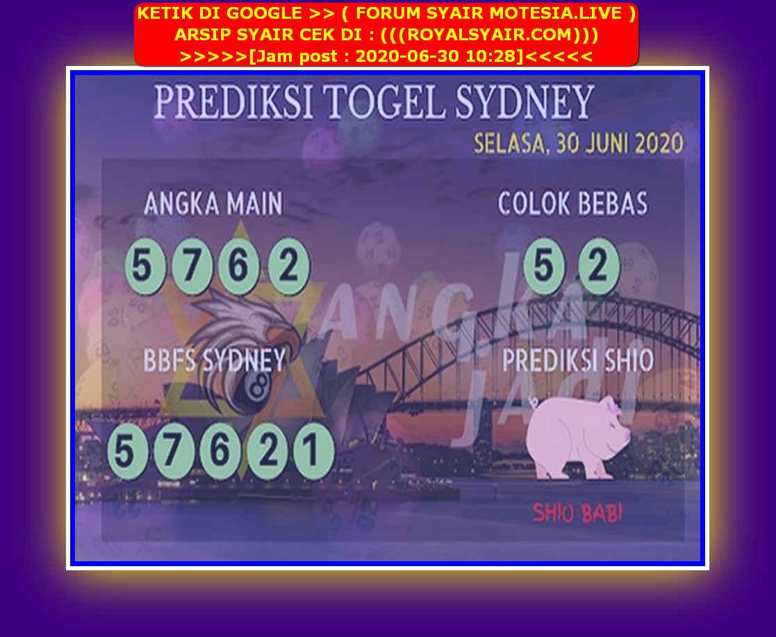 Kode syair Sydney Selasa 30 Juni 2020 97