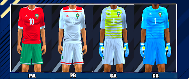 f630c3d6f Morocco 2018 World Cup Kits PES PSP For Emulator PPSSPP