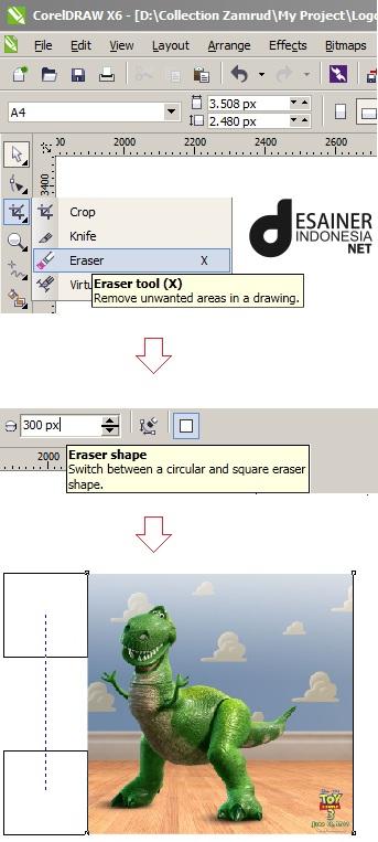 Cara Menyeleksi Gambar Di Corel : menyeleksi, gambar, corel, Memotong, Corel, Zamrud, Graphic