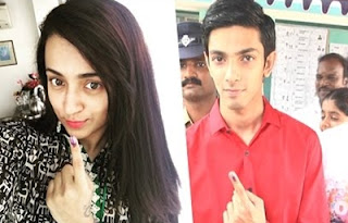 Trisha, Anirudh and more celebs cast their vote at St Francis School | Tamil Nadu Election 2016