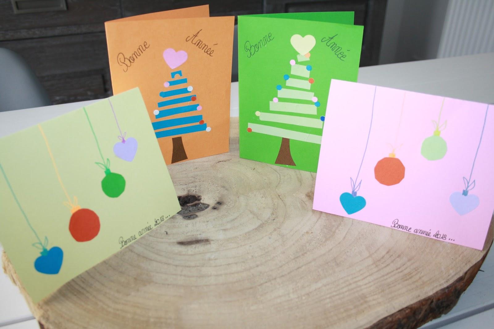 activité manuelle : faire des cartes de voeux avec les enfants