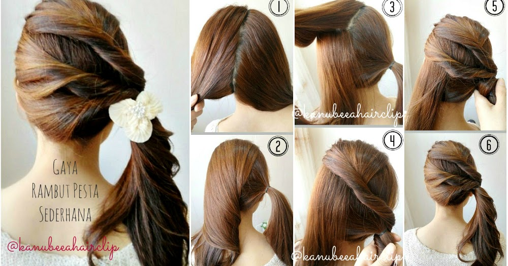 Kanubeea Hair Clip: Gaya Rambut Pesta Sederhana