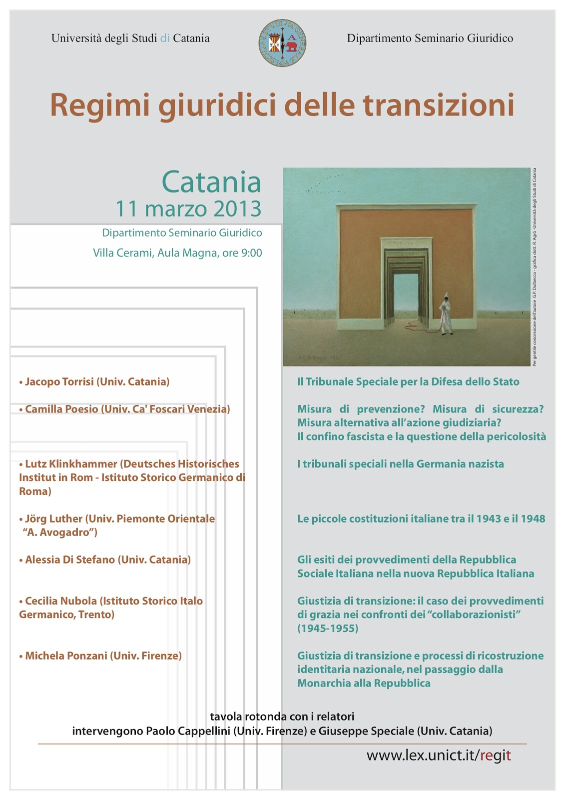 EUROPEAN SOCIETY FOR COMPARATIVE LEGAL HISTORY: March 2013