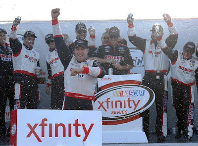 Sam Hornish Jr., at his hometown track, won his first NASCAR Xfinity Series race this season - #NASCAR