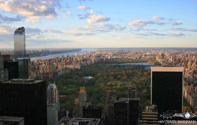 My Travel Background : vue sur Central Park depuis le Top fo the Rock, New York