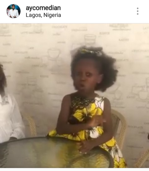 Watch as little miss Success prays for AY