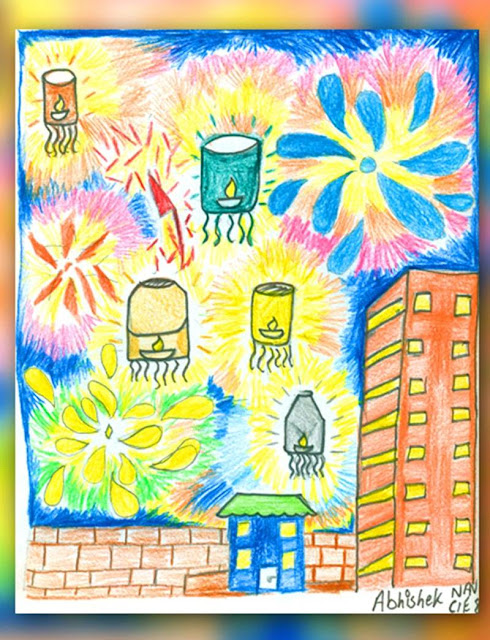 Diwali Sketch Drawing for Students