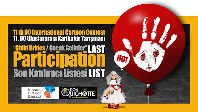 "List of Participants ""Child Brides"" 11. International DQ Cartoon Contest"
