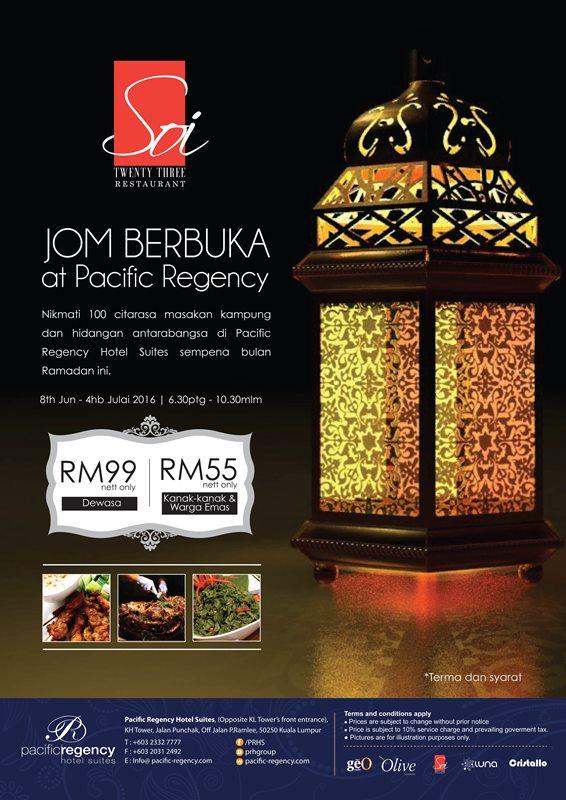 JOM BERBUKA! AT PACIFIC REGENCY HOTEL SUITES