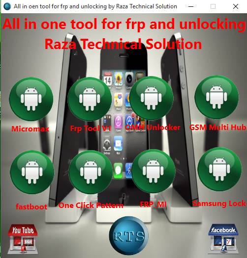 All in one tool for frp and unlock By Raza Technical Solution