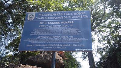Gunung Munara Peraturan