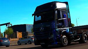 Blue Monster skin for Mercedes MP4