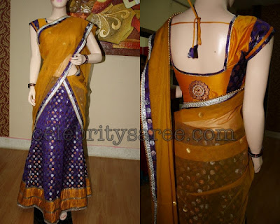 half saree blouse