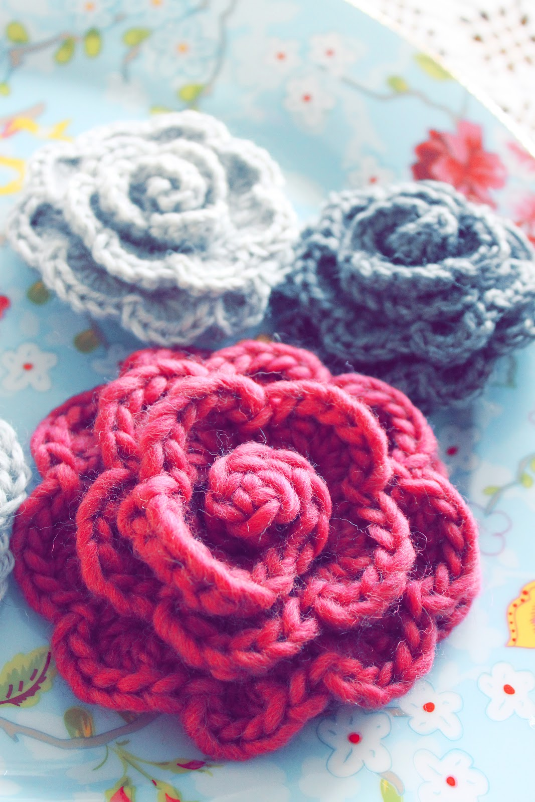 gratis mönster virkade blommor