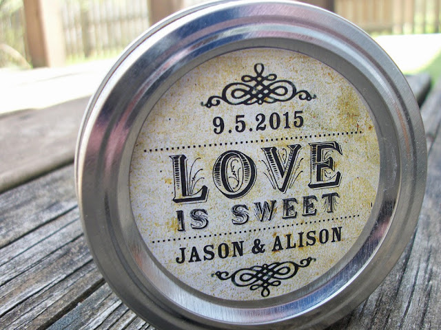 custom love is sweet wedding favor label