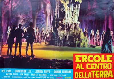 HERCULE CONTRE LES VAMPIRES, péplum, fantastique, Mario Bava, lobby card, Ercole al centro della terra