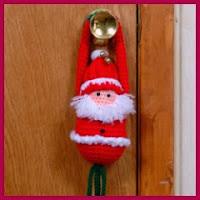 Santa amigurumi para puertas