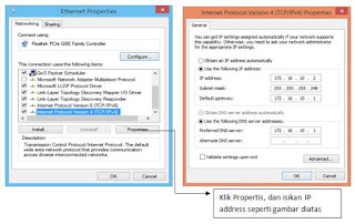 setting ip client