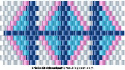 Free Brick Stitch Cuff Pattern 13