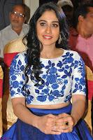 Regina Casandra in Stunning White Embroidery Crop Top Choli and Blue Ghagra at Santosham awards 2017 curtain raiser press meet 02.08.2017 033.JPG
