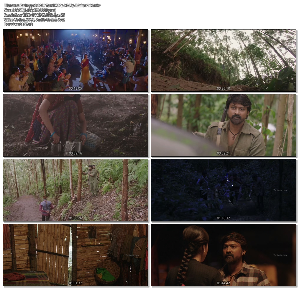 Kazhugu 2 2019 Tamil 720p HDRip ESubs x264 | 480p 300MB | 100MB HEVC Screenshot