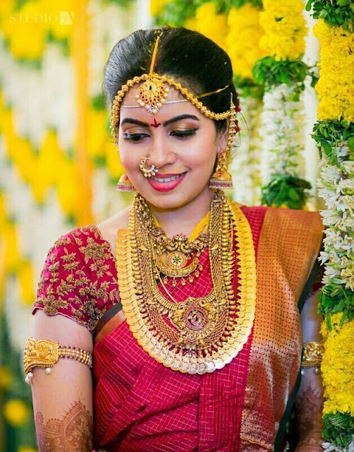 Cute Bride in Traditional Jewellery