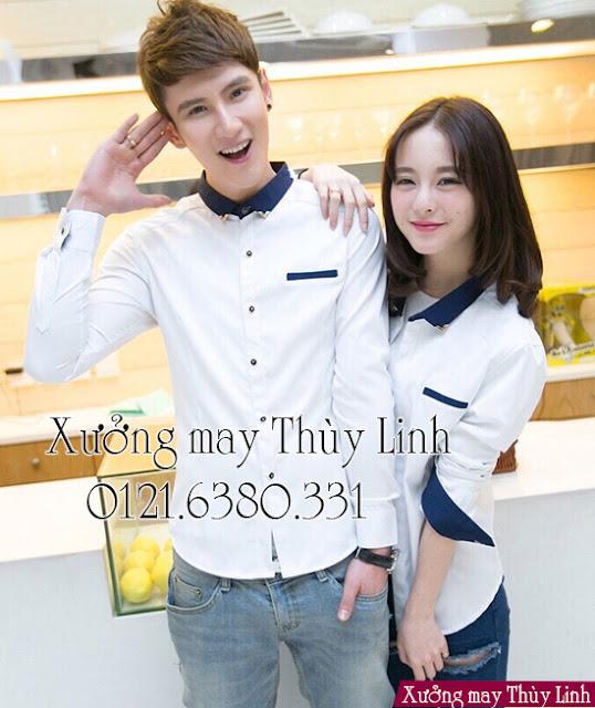 địa chỉ may áo sơ mi đồng phục ở Hà Nội
