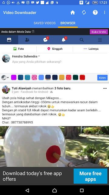 Carar Mudah Download Video Dari Facebook di Android - Blog Mas Hendra
