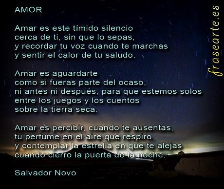 Poemas de amor de Salvador Novo