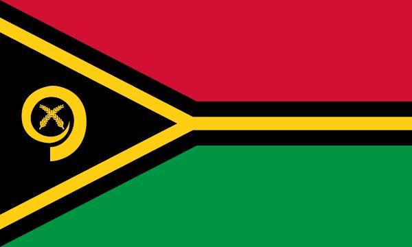 Logo Gambar Bendera Negara Vanuatu PNG JPG ukuran 600 px