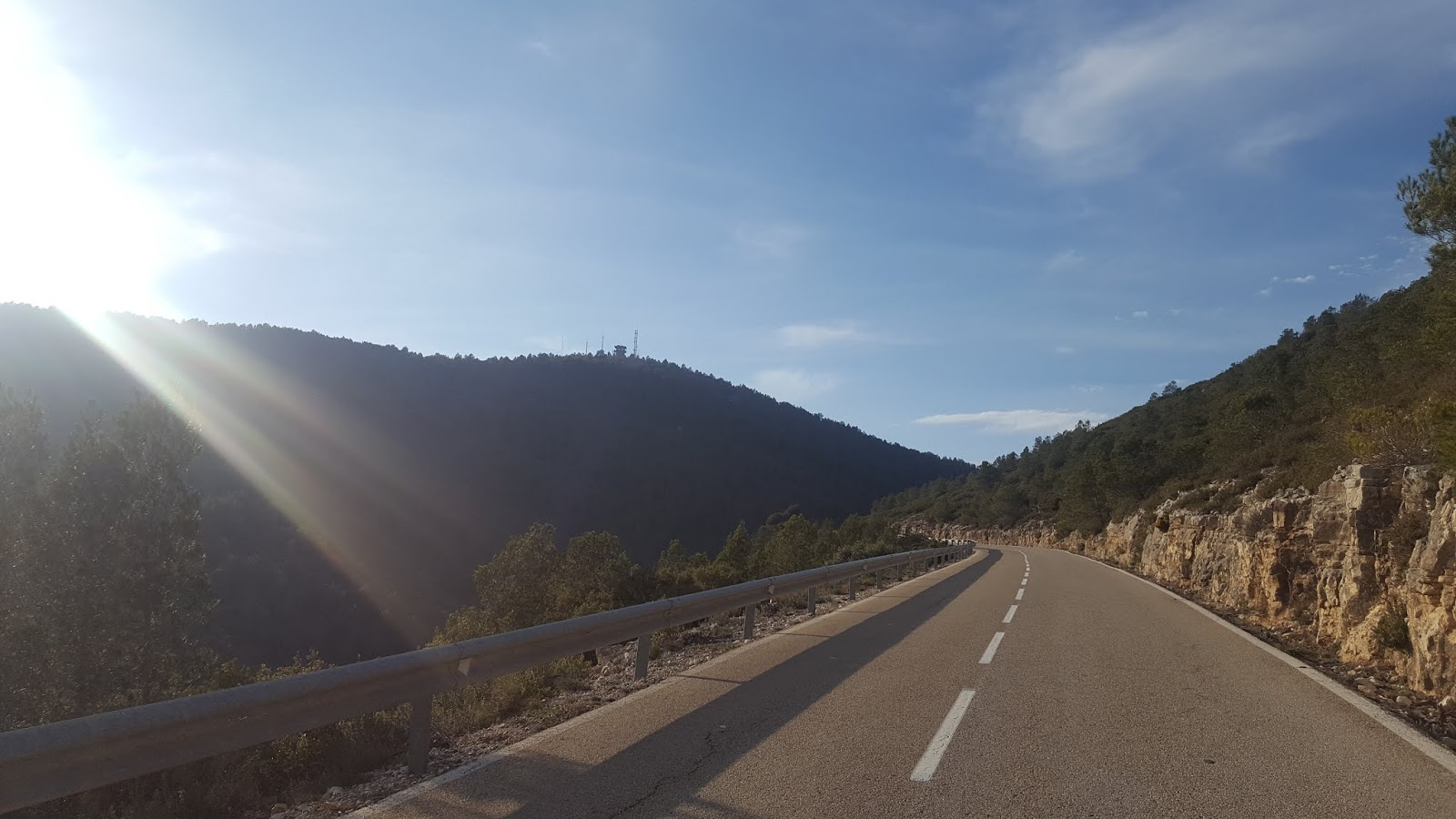 Final stretch of el Puerto del Portitxol, Vall d'Albaida, Spain