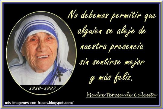 Felicidad Madre Teresa De Calcuta Mis Imagenes Con Frases