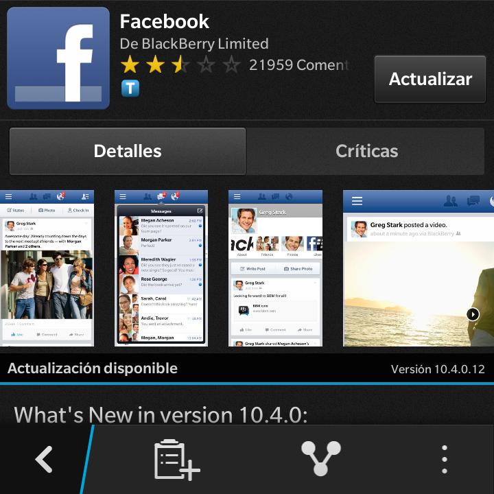 LatinBlackBerry: Actualizado - Facebook para BlackBerry 10