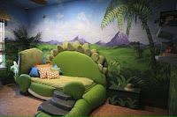 Increíbles camas que les encantarán a los pequeños dinosaurio