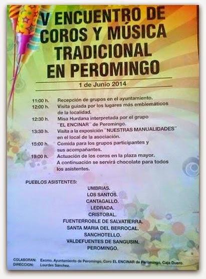 1/Junio. V Encuentro de Coros y Música Tradicional. Peromingo